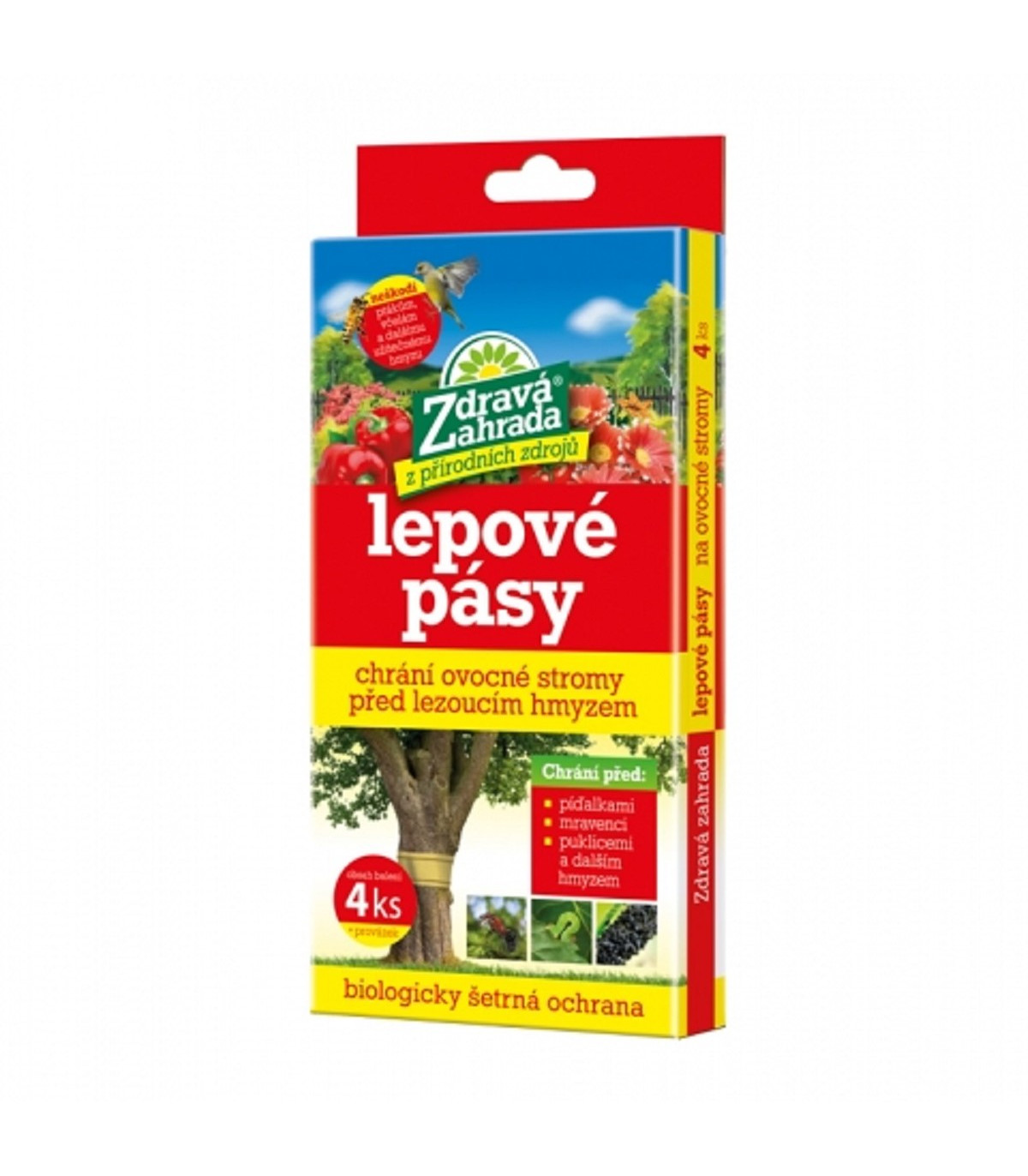 Lepové pásy na piadivky a vošky - Zdravá záhrada - ochrana pred hmyzom - 4 ks